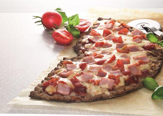 hårt bröd pizza